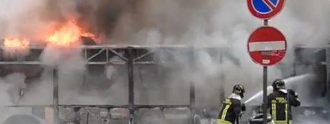 Esplosione autobus Roma: cos'è successo