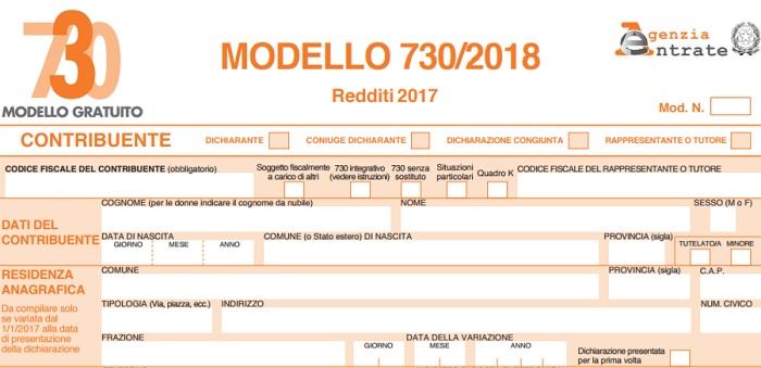 Modello 730 precompilato 2018: compilazione assistita al via