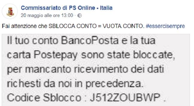 Poste Italiane: nuova truffa Bancoposta e Postepay