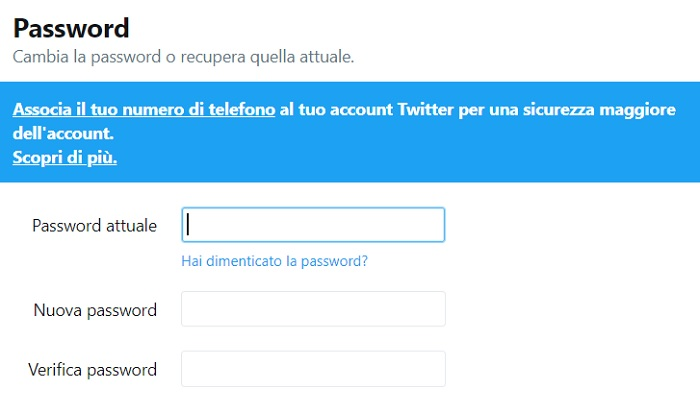 Twitter: cambiare password dopo bug