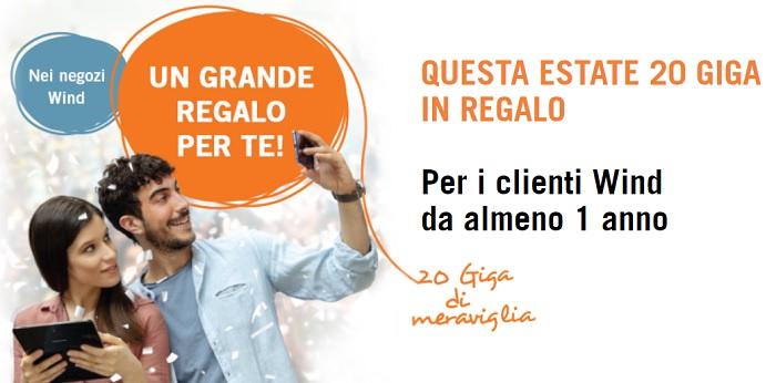 Offerte wind mobile 20 gb internet in regalo come for Offerte in regalo