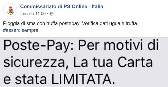 Poste Italiane: truffa hacker Postepay