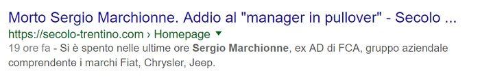 Sergio Marchionne morto bufala 4