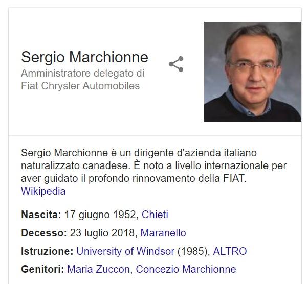 È morto Sergio Marchionne, la malattia lo ha sconfitto a 66 anni