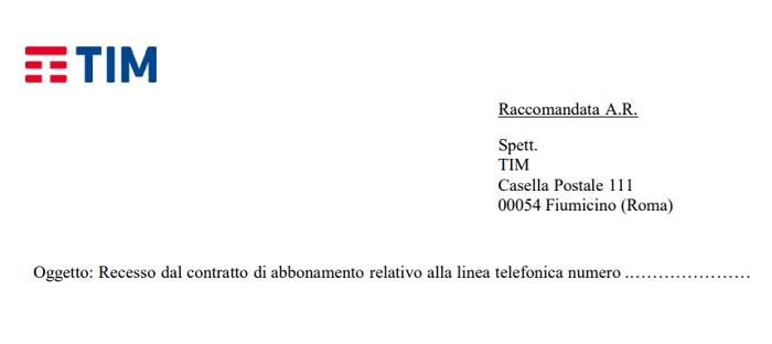 Disdetta Telecom linea fissa modulo pdf