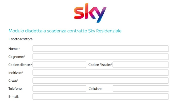 modulo pdf disdetta sky
