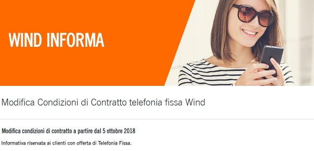 Rimodulazione Wind: aumento offerte 5 euro per fissi, come evitare