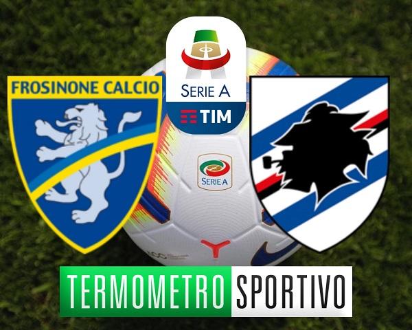 Frosinone-Sampdoria dove vedere in streaming e in tv, la diretta live del termometro sportivo