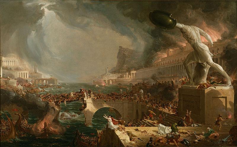 Accadde oggi 4 settembre cade l'Impero Romano d'Occidente - di Thomas Cole
