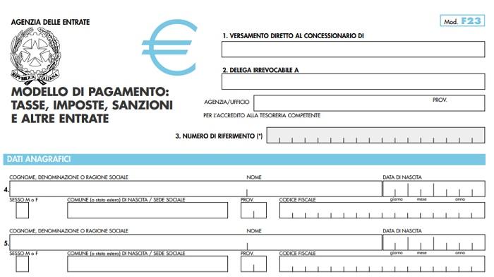 Abolizione Modello F23 decreto semplificazione fiscale
