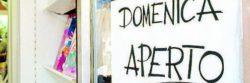 Sondaggi elettorali Euromedia: chiusura domenicale di negozi non piace agli italiani