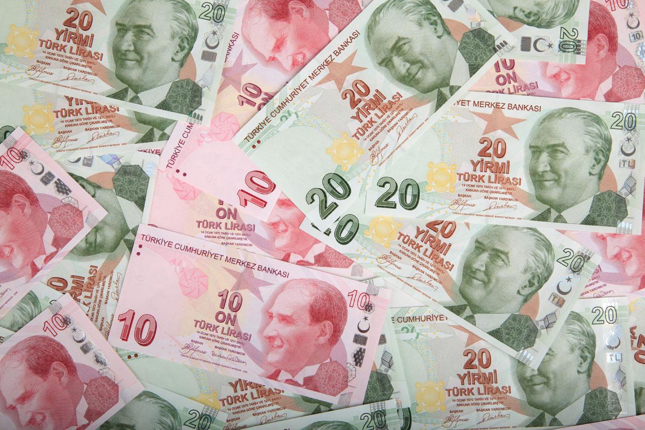 Lira turca, banconote