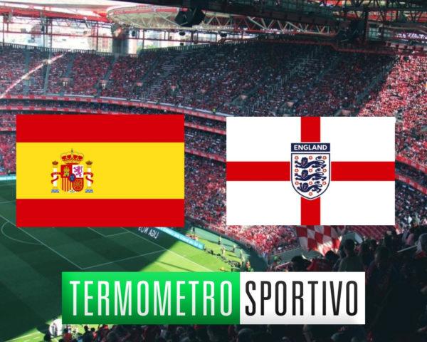 Spagna-Inghilterra: diretta streaming e TV, dove vederla