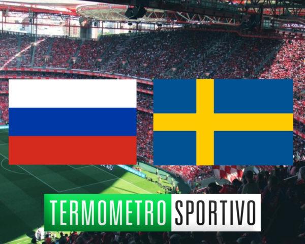 Dove vedere Russia-Svezia in diretta streaming o in TV