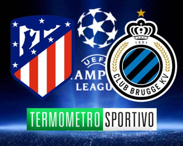 Diretta Atlético Madrid-Brugges streaming risultato live Champions League 2018/2019
