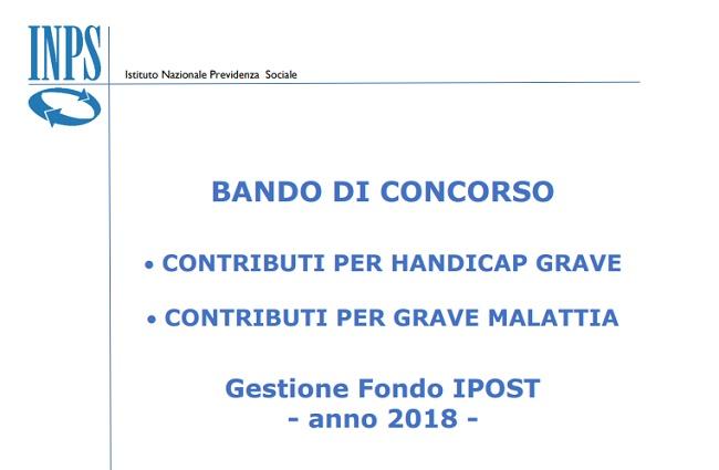 Bando Inps Legge 104, malattia e handicap rimborso spese 2018
