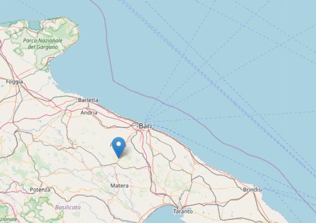 Terremoto oggi Italia epicentro in Puglia, profondità e magnitudo