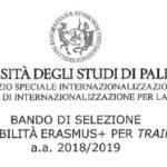 Bando Erasmus 2018 tirocinio estero, requisiti e scadenza