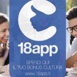 Bonus cultura 18App confermato in Legge di Bilancio 2019. Le ultime