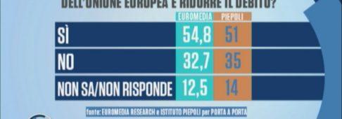 Sondaggi politici Euromedia Piepoli: manovra, reddito di cittadinanza bocciato dagli italiani