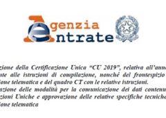 CU 2019: istruzioni e scadenza, la circolare di Agenzia delle Entrate