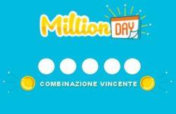 Estrazione Million Day oggi |  numeri vincenti in diretta