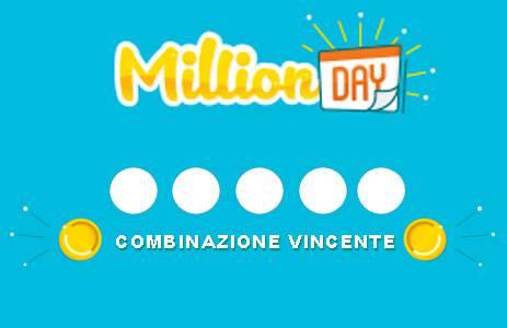 estrazione million day oggi numeri vincenti in diretta