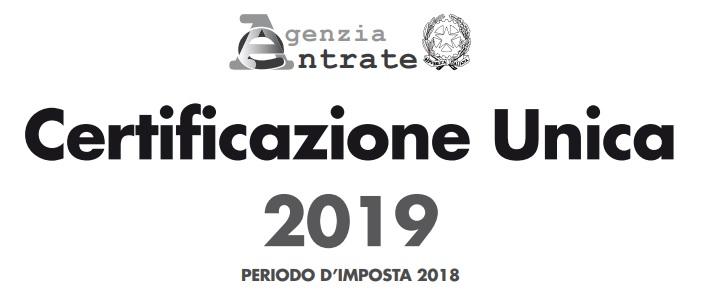 Modello Certificazione Unica 2019 e istruzioni cu ex cud in pdf