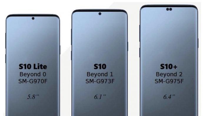 Ecco le prime immagini dei Samsung Galaxy S10