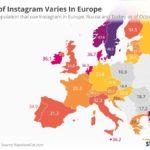 Instagram, dove si utilizza di più in Europa