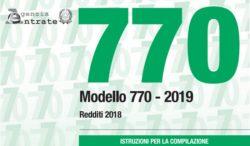 Modello 770 2019: istruzioni, scadenza e chi deve fare il se