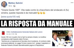 """Pensioni ultime notizie: Quota 100, Salvini attacca """"Cgil no"""