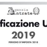 Regime forfettario e minimi CU 2019