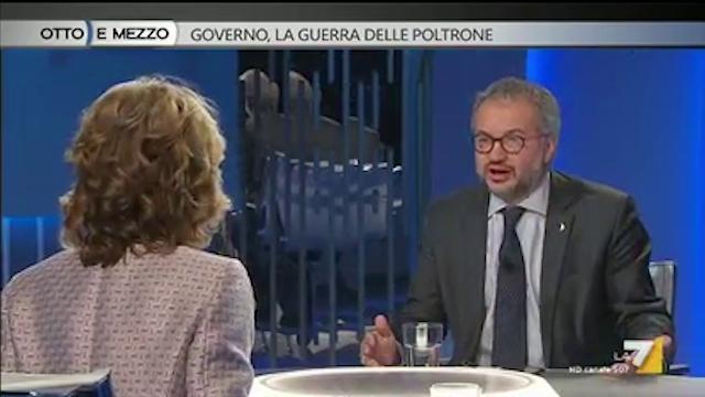 "Claudio Borghi ""Spagna fondò l'Ue"", Lilli Gruber ""deve studiare"""