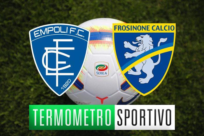 Diretta Empoli Frosinone, streaming, highlights e risultato - LIVE