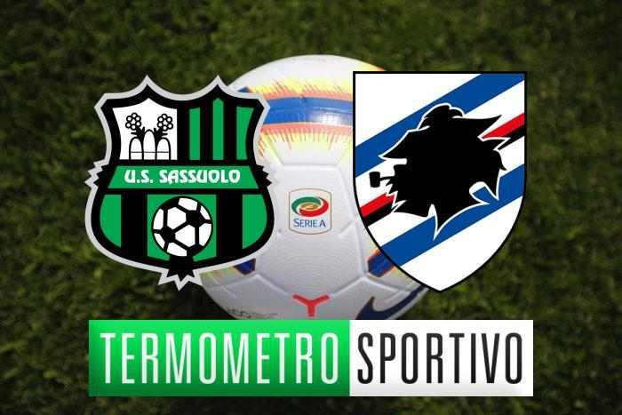 Diretta Sassuolo-Sampdoria streaming, highlights e risultato - LIVE