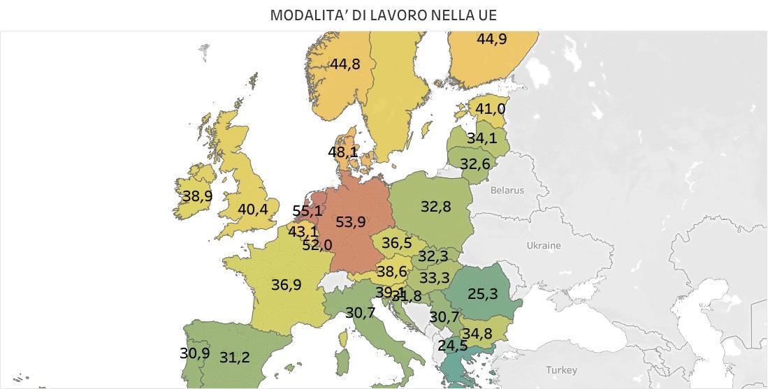 Lavoro in Europa, dove è più pesante e dove più leggero - infografiche