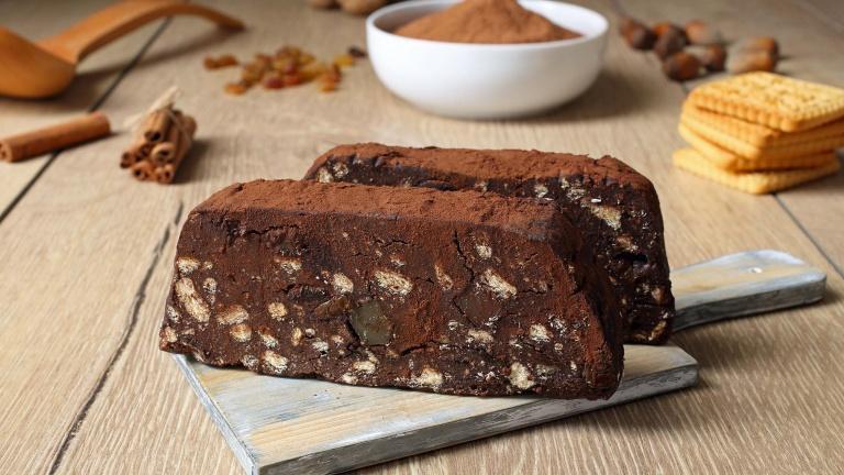 Salame di cioccolato, ricetta banco, senza uova o vegan. Come si fa