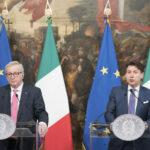 ecessione Italia 2019 Tajani Junker