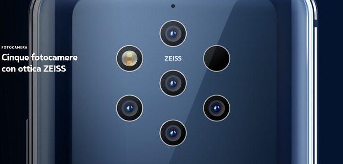 Nokia 9 Pureview fotocamera