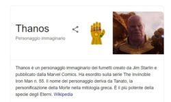 Thanos: Easter egg su Google, come far schioccare le dita on