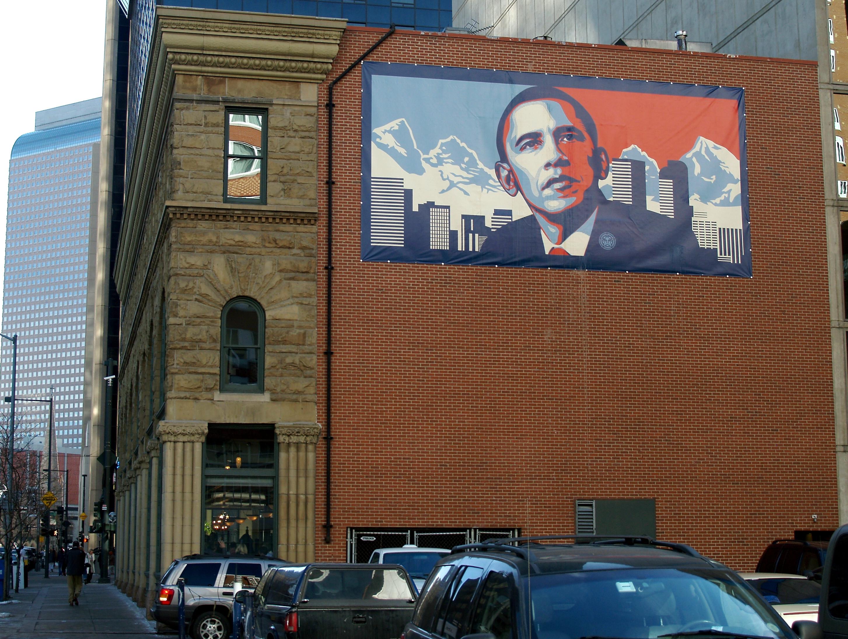 L'America cambia: un poster di Obama in Colorado