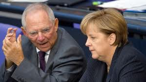 schaeuble merkel, Germania