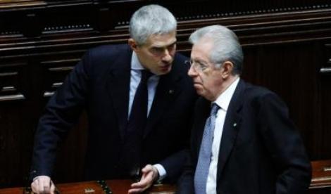 I politici Monti e Casini
