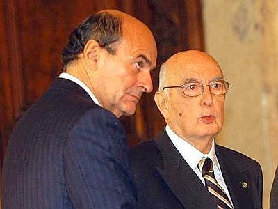 Napolitano e Bersani