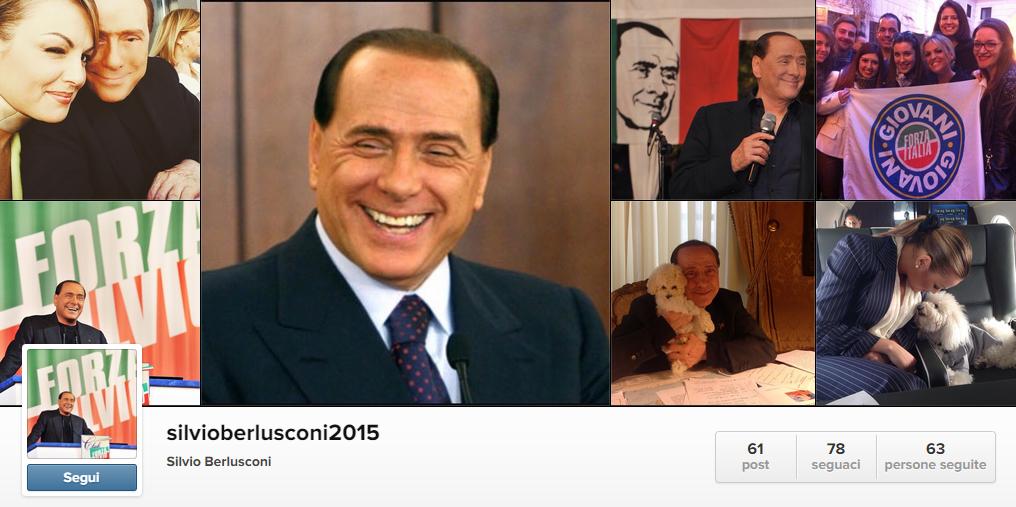 foto del profilo di instagram silvioberlusconi2015