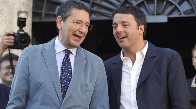 Il sindaco di Roma Marino ed il premier Renzi