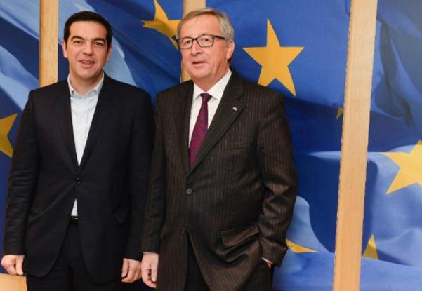 il premier greco tsipras ed il commissario junker