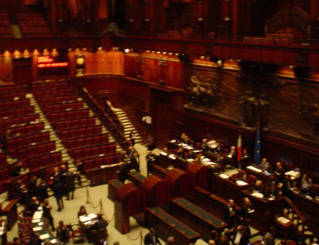 immagine dell'aula della camera dei deputati