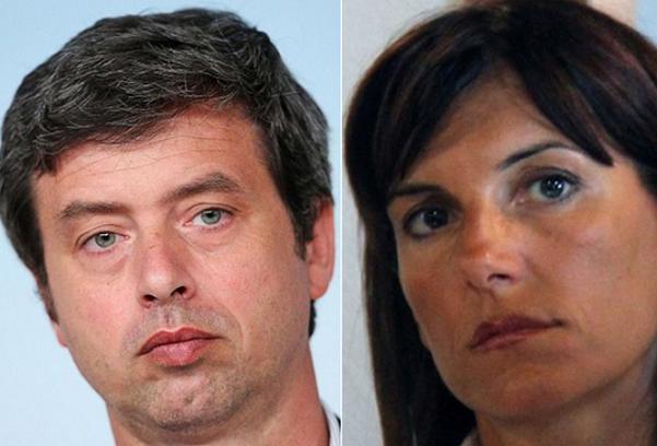 a sinistra ministro orlando e a destra raffaella paita